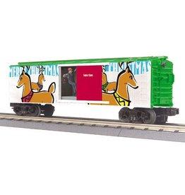 MTH - RailKing 3079376 - BOX CAR CHRISTMAS W/SIGNAL MAN