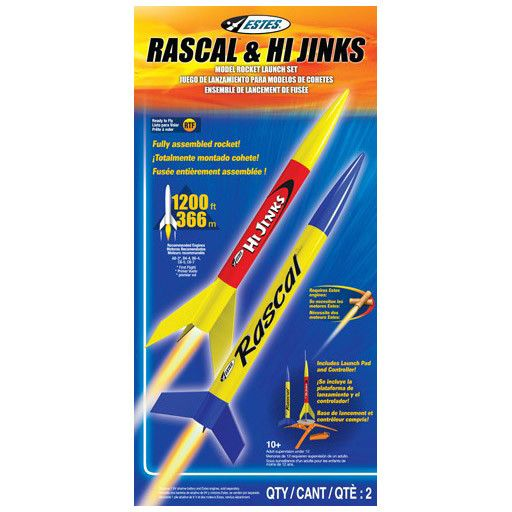 ESTES 1499 - RASCAL & HIJINKS LAUNCH SET 2pk