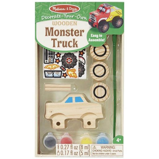 Melissa & Doug WOODEN DYO PAINT - MONSTER TRUCK