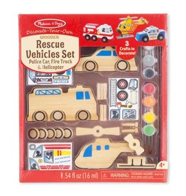 Melissa & Doug WOODEN DYO PAINT - RESCUE VEHICLE SET