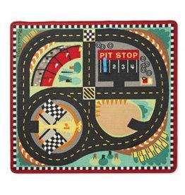Melissa & Doug 2062 - M&D ROUND THE SPEEDWAY RACE TRACK RUG & CAR SET