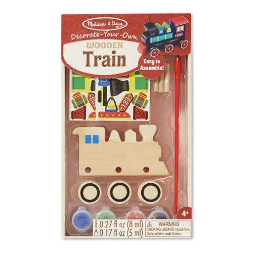 Melissa & Doug WOODEN DYO PAINT - TRAIN