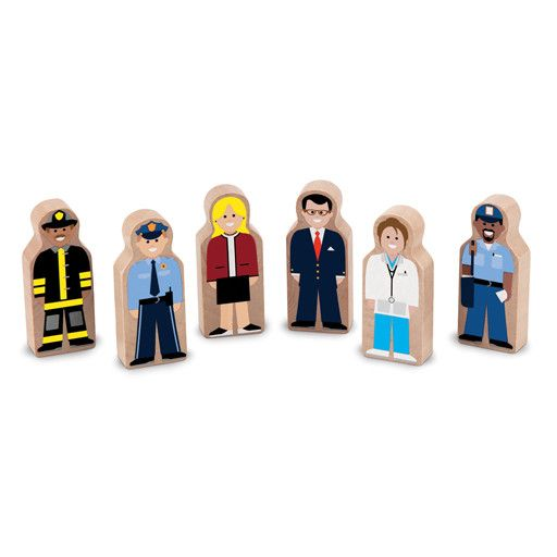 Melissa & Doug WOODEN PEOPLE AT WORK SET