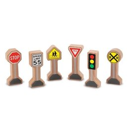 Melissa & Doug WOODEN TRAFFIC SIGNS
