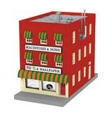 MTH - RailKing 3090409 - 3-Story City Building w/Fire Escape & Blinking Sign - MACINTOSH & SONS PAINTS