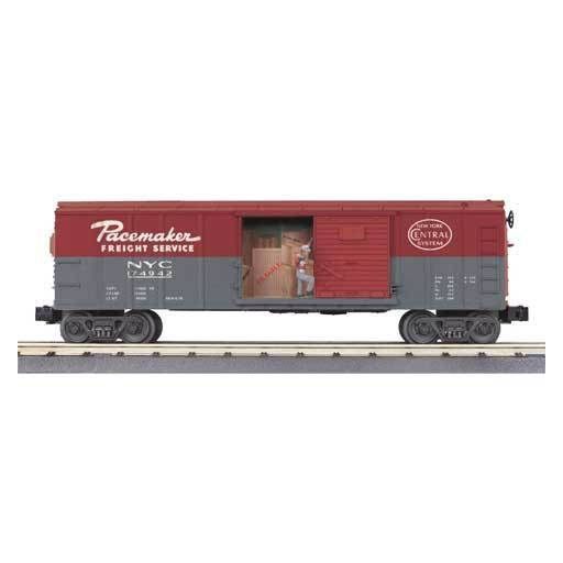 MTH - RailKing 3079016	 - 	BOX CAR NYC W/SIGNAL MAN