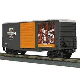 MTH - RailKing 3074690 - BOX CAR REPUBLIC STEEL