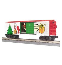 MTH - RailKing 3079281 - Box Car w/Signal Man CHRISTMAS
