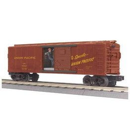 MTH - RailKing 3079187	 - 	BOX CAR W/SIGNAL MAN UP
