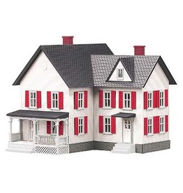 MTH - RailKing 3090333	 - 	FARM HOUSE White w/Red Shutters