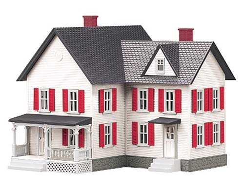 MTH - RailKing 3090333 - FARM HOUSE White w/Red Shutters
