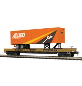 MTH - Premier Flat Car with 40' Allied Trailer 20-95219