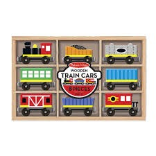 Melissa & Doug 5186 M&D Wooden Train Cars