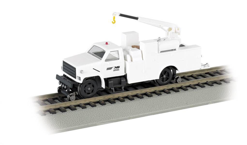 BACHMANN NS HO Hi-Rail Equipment Truck with crane (DCC)