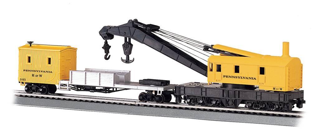 BACHMANN 16114 Bachmann HO 250 TonPRR Steam Crane & Tender