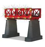 MTH - RailKing 40-1116 Red Girder Bridge with oper. Xmas lights