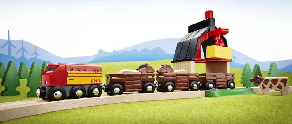 BRIO FARM RAILWAY SET