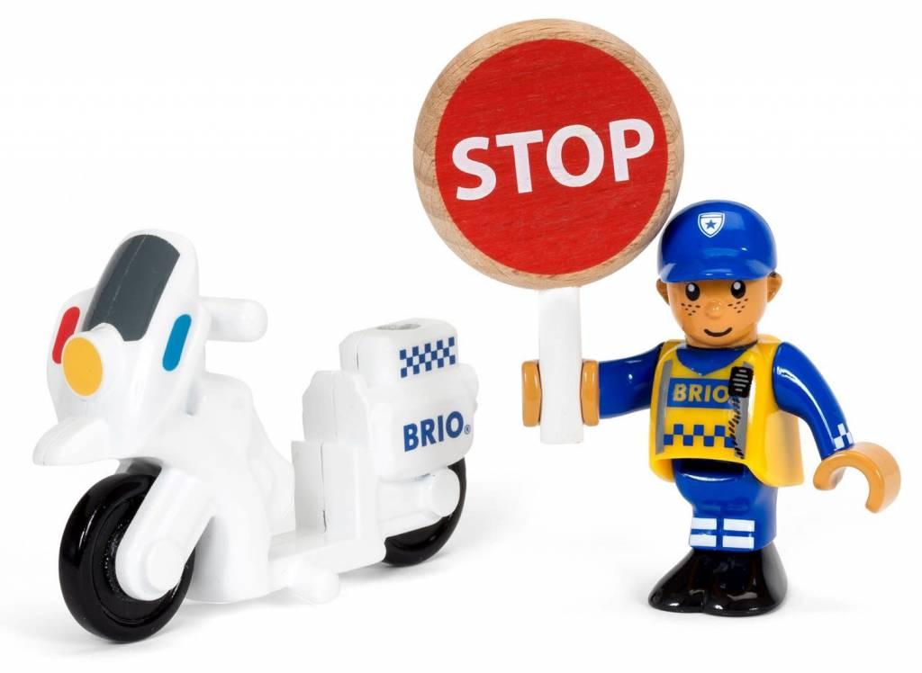 BRIO Police Motorcyclist