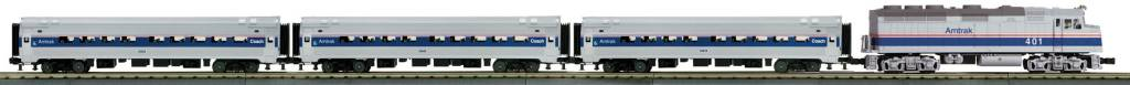 MTH - RailKing 30-4246-1 Amtrak Merchants Limited Diesel Passenger Set