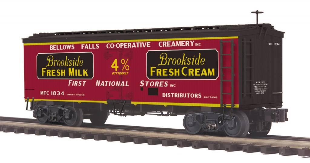MTH - Premier Brookside Fresh Milk 36' Woodsided Reefer Car 20-94412