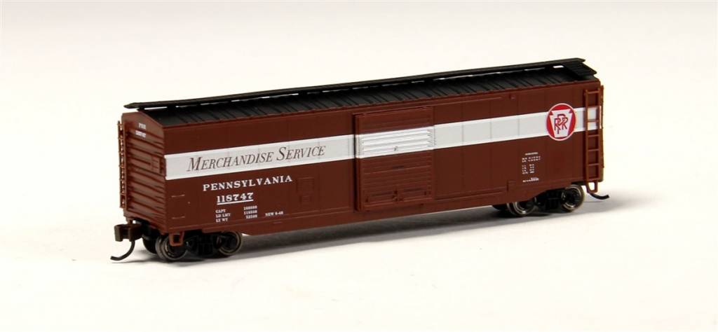 BAC 19457 N scale 50' Sliding Door PRR Merchandise Service