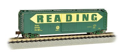 BAC 19461 N scale 50' Sliding Door Boxcar Reading