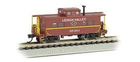 BACHMANN BAC16858 N Scale Northeast Steel Caboose, Lehigh Valley-Tuscan Red