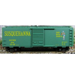 Micro Trains Line #20670 N Scale New York, Susquehanna & Western 40' Standard Box Car w/Single Door