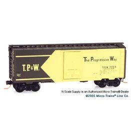 Micro Trains Line #02000716 N Scale Toledo, Peoria, & Western 40' Standard Box Car w/Single Door