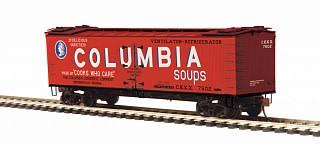 MTH - HO #80-94056, HO Columbia Soups (#7502) R40-2 Woodside Reefer