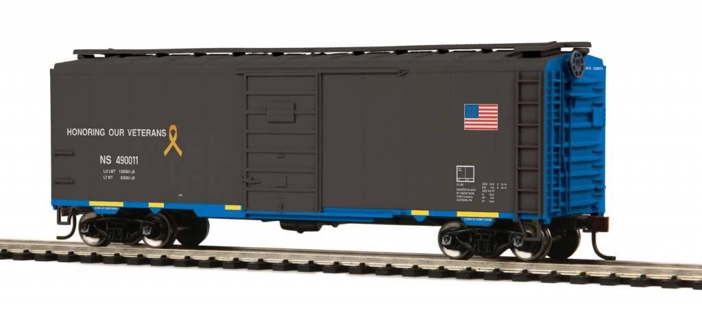 MTH - HO #85-74151, HO Norfolk Southern (#490011) Veterans 40' PS-1 Box Car