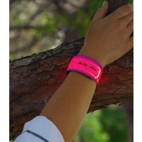 SlapLit LED Bracelet with Wavy Grid:  Red