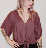DA82- Lovestitch -Tie Front Top