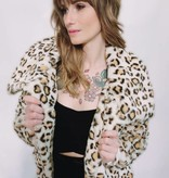 DA80- 36Point5- Leopard Print Faux Fur Coat