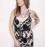 DA69 - Trac - Sequinned Flower Detail Dress