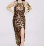 DA67 - Trac - Hi-Neck Sequinned Gown