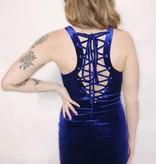 DA51 - Privy - Velvet Dress w/Lace-Up Back