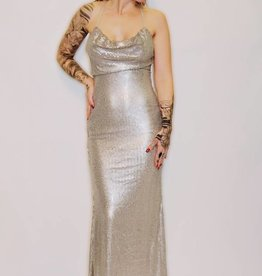 DA40 - Luxxel - Disco Cowl Neck Gown