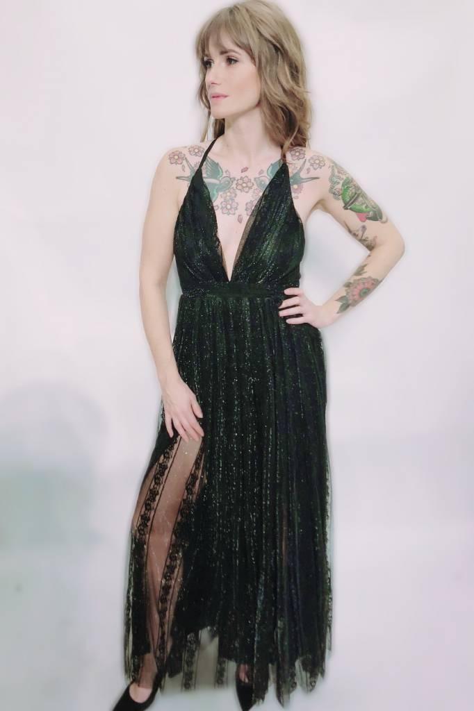 DA35 - Luxxel -  Lace Stripe Gown