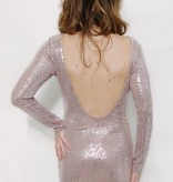 DA26 - Lovely Day -L/S Disco Ball Dress