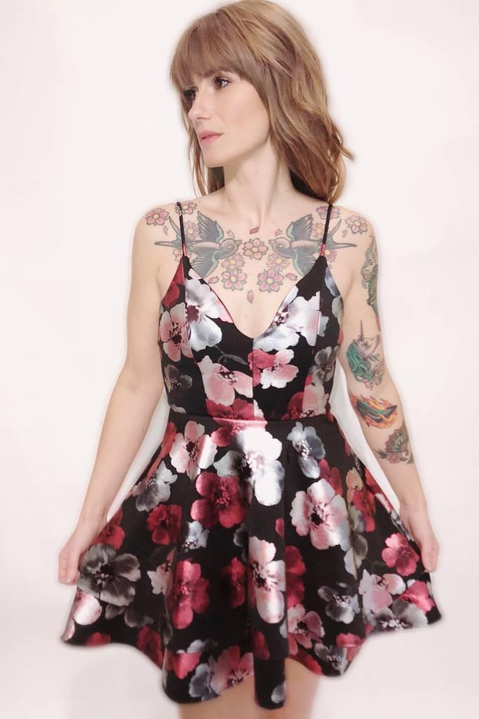 DA20 - Kimcine - Flower Full Skirt Dress