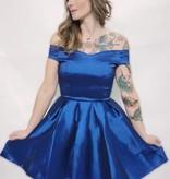 DA19 - Kimcine -  Off Shoulder Taffeta Dress
