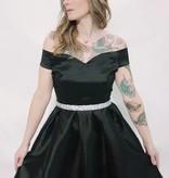 DA18 - Kimcine - Off Shoulder Taffeta Dress w/Detailed Belt