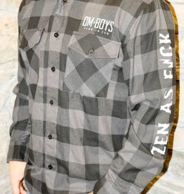 Mens - Om Boys - L/S Plaid Shirts - Zen As F*ck/Crest