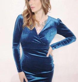 DA16 - Dresscode -  L/S Velvet Dress