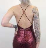 DB39 - Symphony -  Sequinned Dress W/Criss/Cross Back