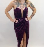 DB22 - Luxxel - Velvet Strapless Dress