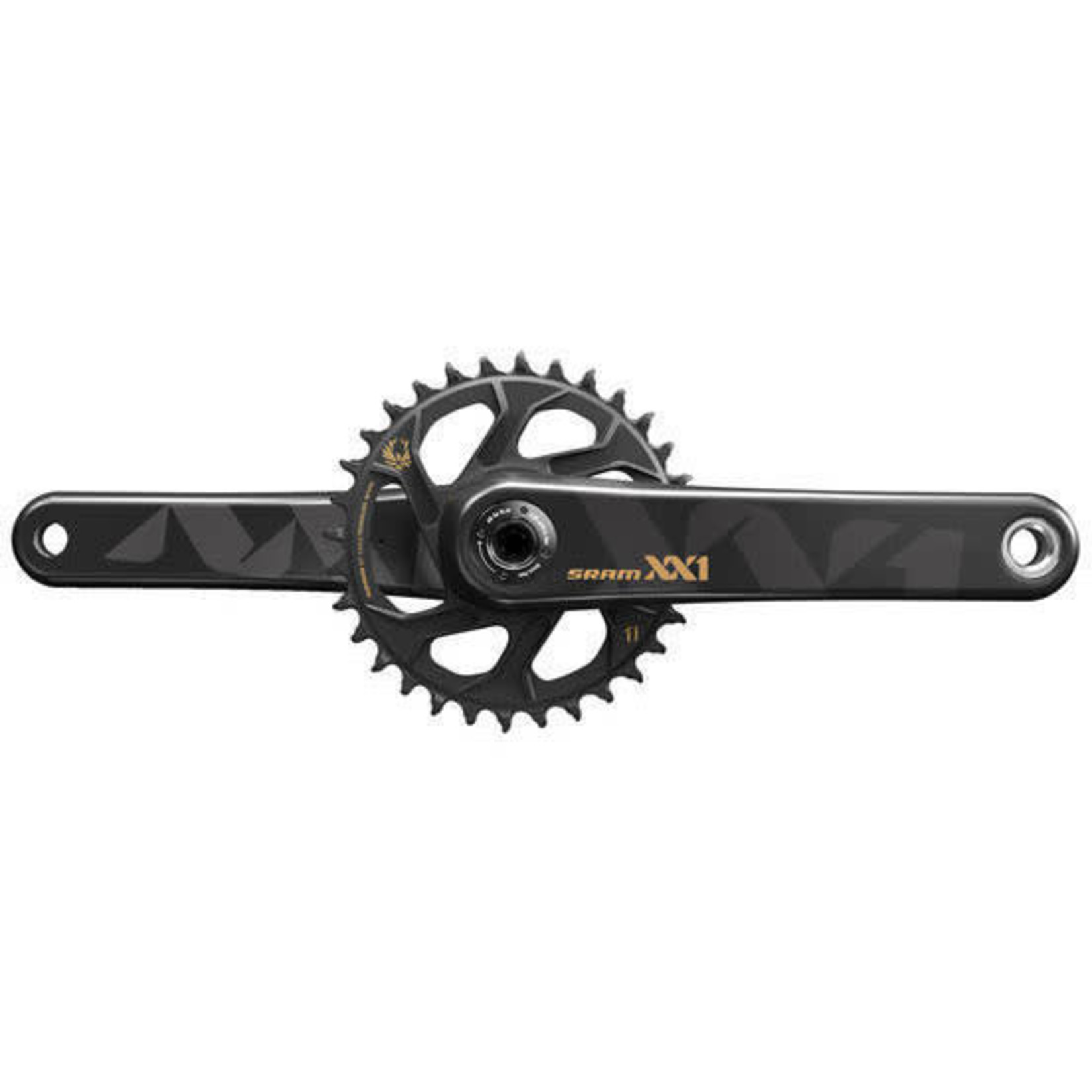 SRAM SRAM XX1 Eagle BB30 175mm Crankset Black/Gold