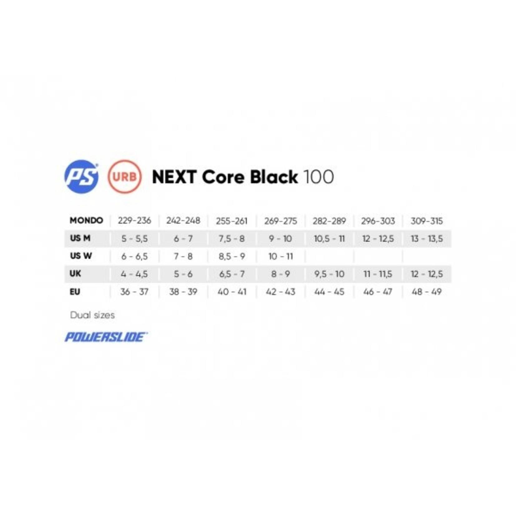 Powerslide Powerslide NEXT Core Black 100