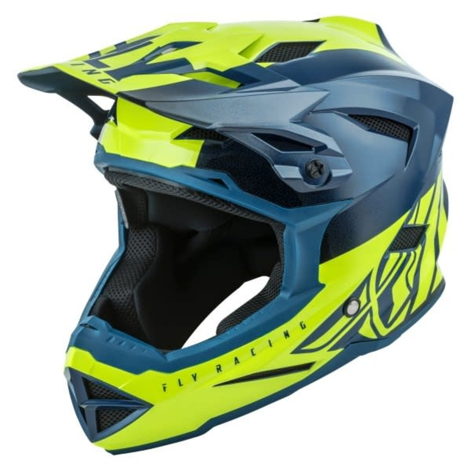 FLY RACING DEFAULT HELMET TEAL/HI-VIS YELLOW SM
